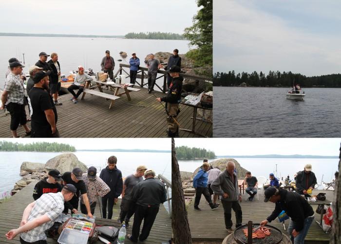 En dag på sjön med en fiskeklubb